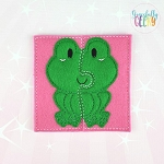 Frog Toddler 4x4 Hoop Puzzle Embroidery Design
